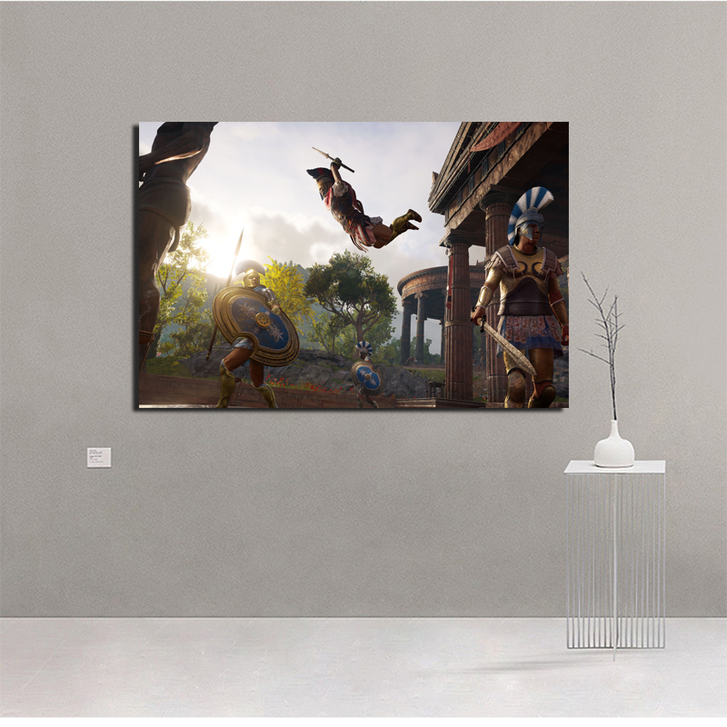 Assassins Creed Odyssey Sistem HD Canvas Painting Posters Prints Modern Painting Wall Picture For Living Room Home Decor Artwork in Painting Calligraphy from Home Garden