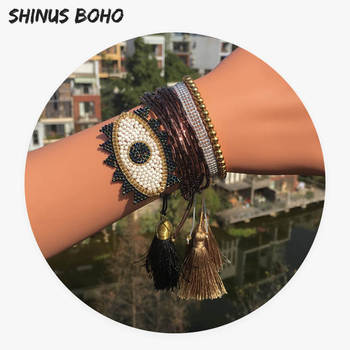 a82e49f7986f Go2boho Bohemia pulsera de las mujeres de Miyuki Pulseras Insta de moda de  verano de playa de joyería Pulseras Japón Miyuki granos Tila