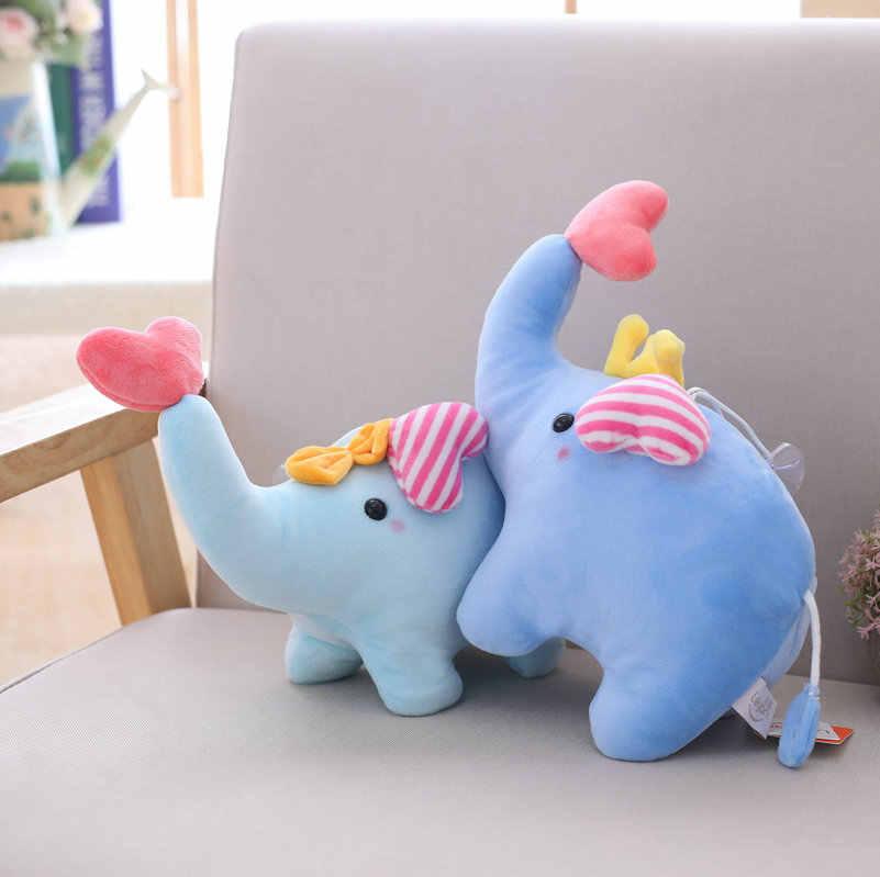 25cm pelúcia elefante azul brinquedo recheado amor dos desenhos animados elefantes bonecas bebê crianças kawaii presente de aniversário casa loja decoração triver