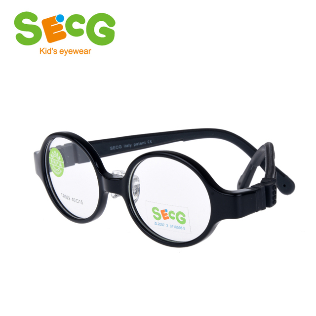 6267b75e59ba SECG Silicone Round Kids Glasses Frame Detachable Soft Flexible Baby  Children Glasses Nose Pads Transparent Spectacles Eyeglasse