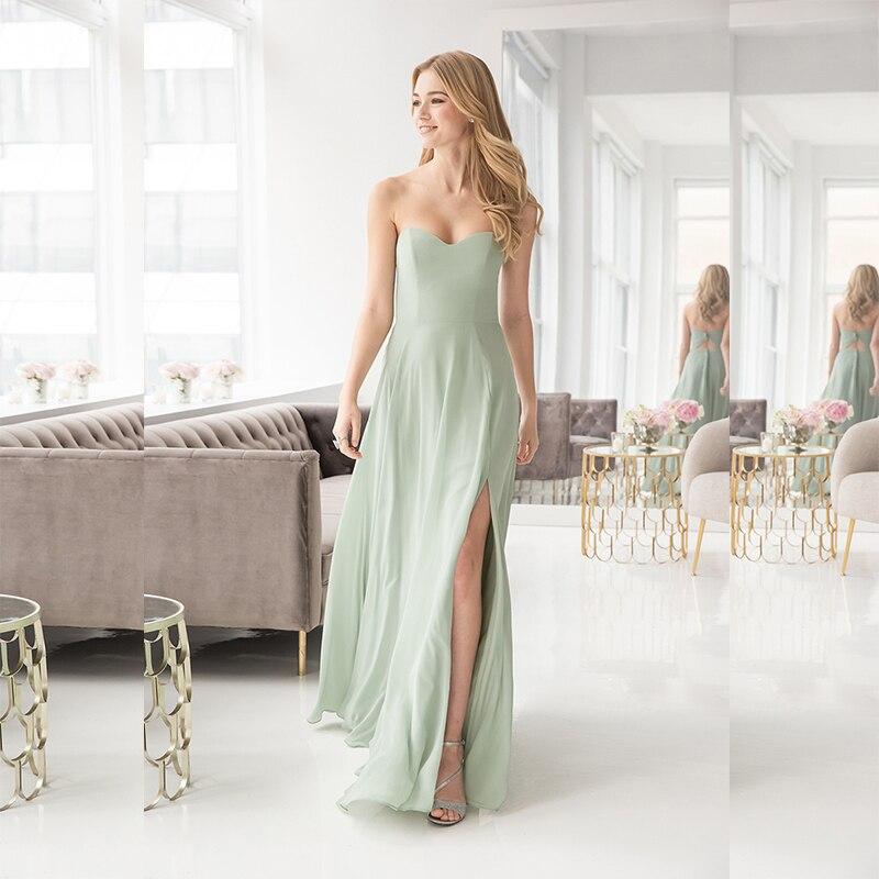 Verngo Fashion Green Bridesmaid Dresses Chiffon Summer Bridesmaid Dress Simple Elegant Vestidos De Madrinha