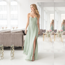 Verngo Fashion Green Bridesmaid Dresses Chiffon Summer Dress Simple Elegant Vestidos De Madrinha