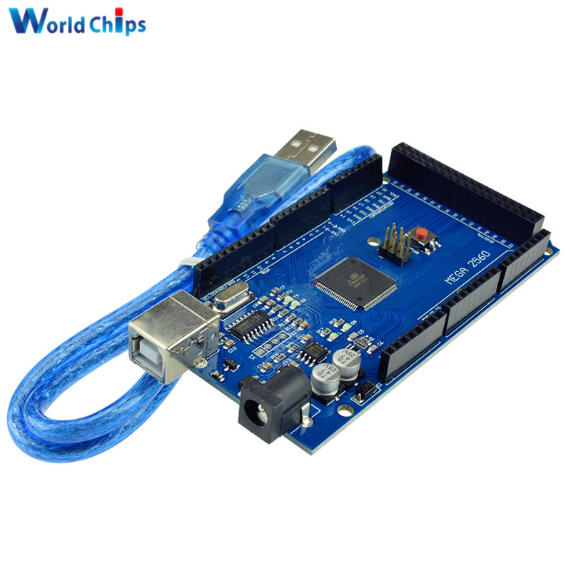 Mega 2560 R3 Mega2560 REV3 (ATmega2560-16AU CH340 CH340G) Board With USB Cable Compatible For With USB Cable Top QualityMega 2560 R3 Mega2560 REV3 (ATmega2560-16AU CH340 CH340G) Board With USB Cable Compatible For With USB Cable Top Quality