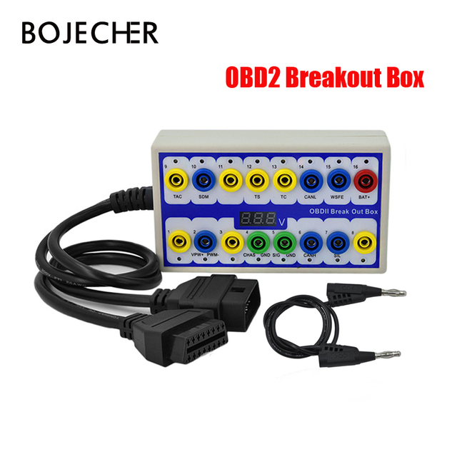 OBDII Breakout Box OBD OBD2 Break Out Box Auto Protokoll Detector Auto Auto Test Box Automotive Stecker über freies verschiffen