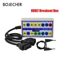 цена Breakout Box OBDII Breakout Box OBD OBD2 Break Out Box Car Protocol Detector Auto Can Test Box Auto Connector Car-detector