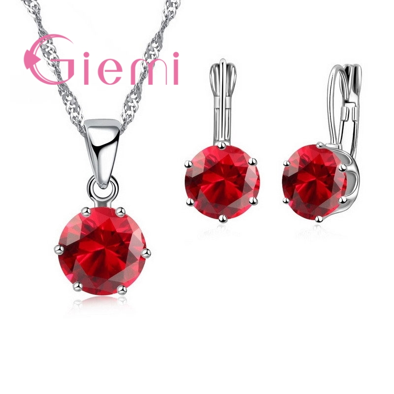 Giemi New Fashion Mewah Perhiasan CZ Set 925 Sterling Silver Earring - Perhiasan fashion - Foto 2