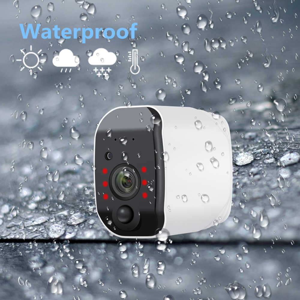 1080 1080p Wifi カメラバッテリ駆動 2.0MP HD 屋外ワイヤレスセキュリティ IP カメラ監視全天候 PIR アラーム記録オーディオ