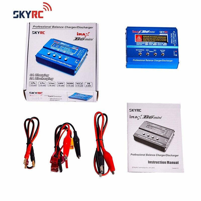 Original SKYRC IMAX B6 MINI 60 W Balance RC chargeur/déchargeur pour RC hélicoptère Re-pic pour NIMH/NICD avion + adaptateur de puissance