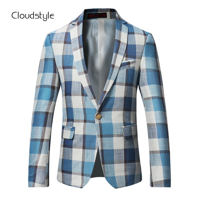 Cloudstyle 2018 Own Designed Male Blazer Fashion Single Suits Jacket Men Flower Printing Casual Slim Fit Business Overcoat