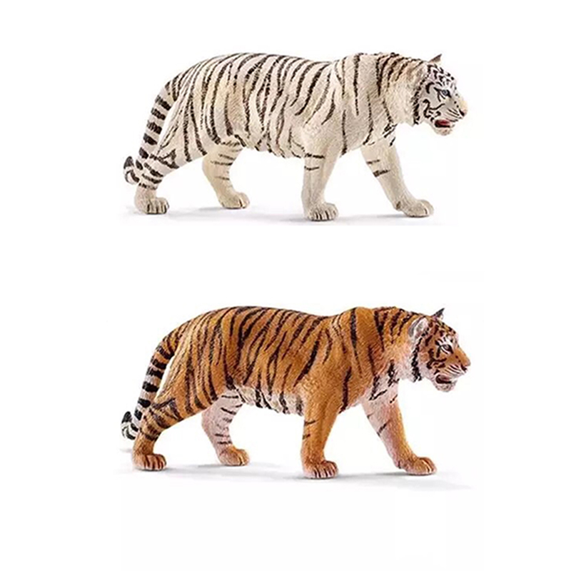 11cm Long Wild Animal Tiger PVC Models Action Figures Cheap Toys For Kids Toys Gifts patrulla canina with shield brinquedos 6pcs set 6cm patrulha canina patrol puppy dog pvc action figures juguetes kids hot toys