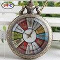 Coreano moda retro relógio de vidro branco flip perspectiva malha cor Roma Relógio de bolso de quartzo turntable DS157