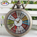 Korean fashion retro watch white glass flip perspective Rome color lattice turntable quartz pocket Watch DS157