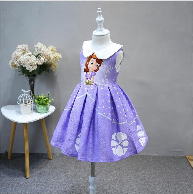 f0d44d268c42326 Платье принцессы Софии Хэллоуин жаккардовое платье для маленьких девочек  София костюм для вечеринки, SOFIA THE