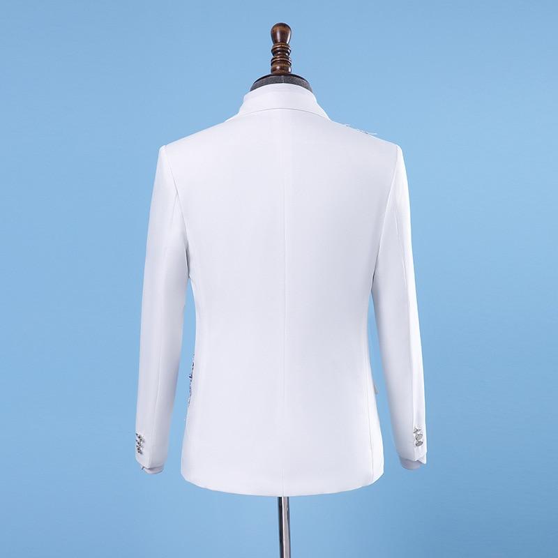 2xl Veste De Et Pantalon Fit Hommes Slim Costume Deux Ensembles Taille Classique Blanc Mariage Gamme Haut piece Mens RHZnx0