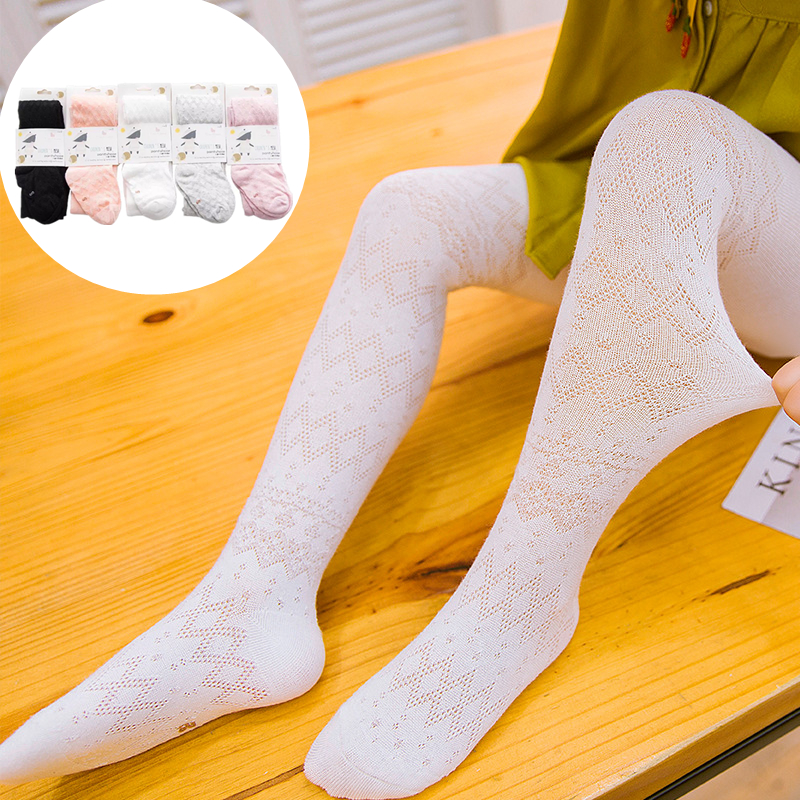 3pcs/lot High Elastic Baby Girls Pantyhose Summer Spring Children Girl Tights Cotton Knitted Kids Girls Stocking For 0-4 Years