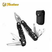 Toolgo Mini Multi-function Combination Pliers Outdoor Portable Multi-Pliers Universal Folding Pocket Knife Tool Keychain