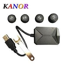 KANOR TPMS для Android автомобильная DVD система контроля давления в шинах 4 датчика сигнализация система контроля температуры в шинах