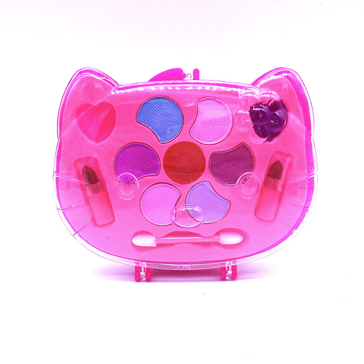 Cat Portable Girl's Princess Girl's Washable Makeup Toy NON TOXIC Deluxe Makeup Set Lipstick And Eye Shadow For Kids GIFT