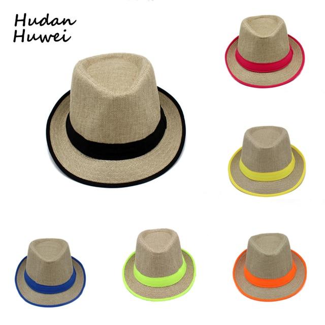 498cfae425ab92 Canvas jazz hat cap black band casual panama Fedoras Outdoor Beach Travel  Sunhat headgear jbros chapeau for men women GH-21