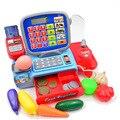 Bohs pretend play toy brinquedo caixa registradora com real calculadora
