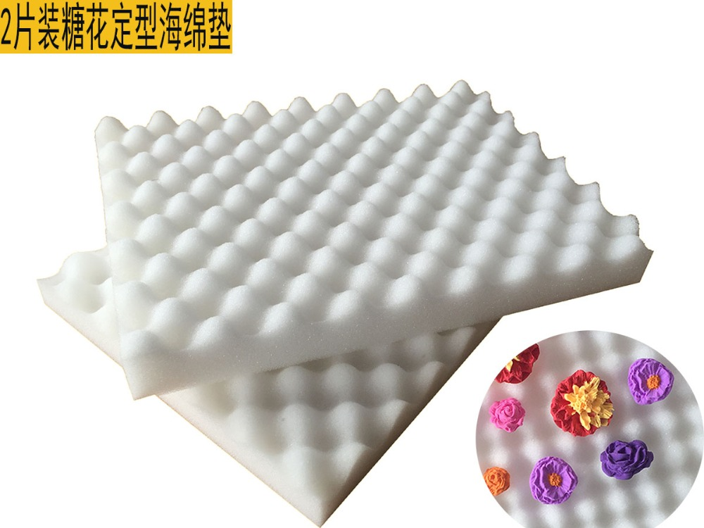 2 unids/set herramientas de la torta pasta Fondant flor conformación esponja alm