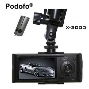 Image 1 - Podofo Dual Lens Car DVR X3000 R300 Dash Camera with GPS G Sensor Camcorder 140 Degree Wide Angle 2.7 inch Cam Video Recorder