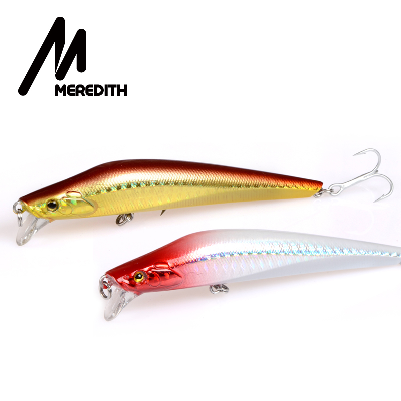 Meredith Lures Fishing 1pcs 9.2g 100mm Floating Minnow Қатты Artigicial Bait Bay Мастер Lures wobblers Hooks Carp Fishing