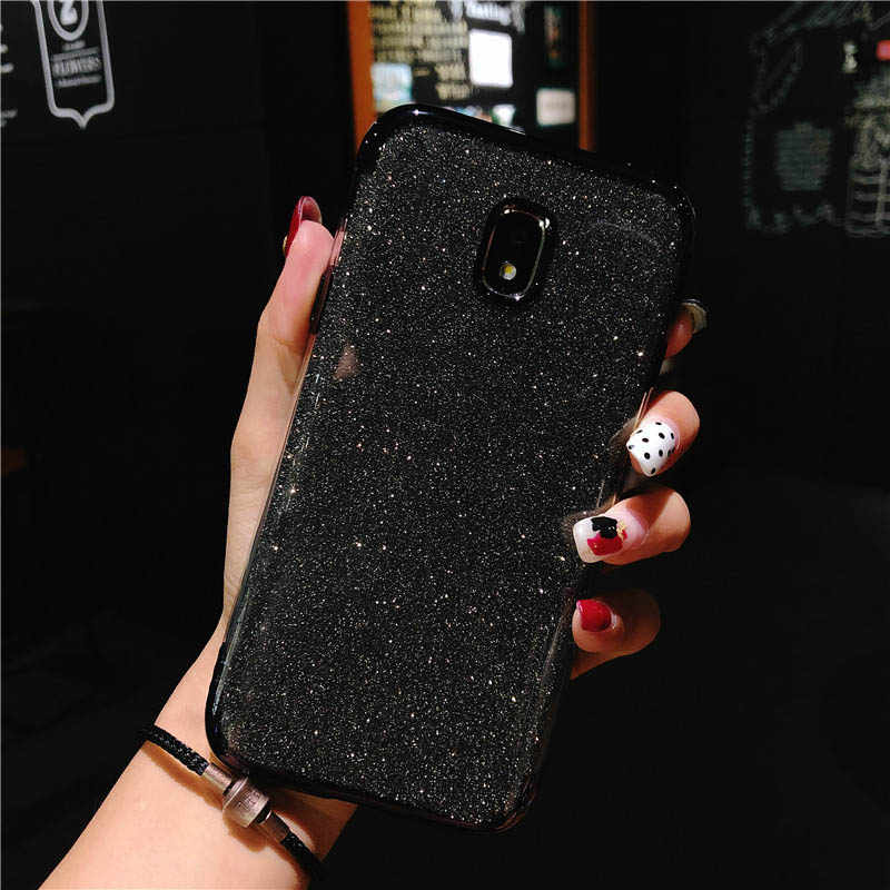 Glitter Case For Samsung J3 J5 J7 A3 A5 A7 2016 2017 iphone X 6 6s 7 8 Plus Cover 2 in 1 TPU Silicone Bling Soft Back Phone Case