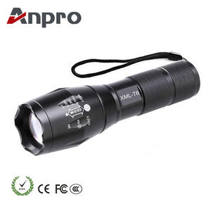 Anpro Powerful Led Flashlight Waterproof Outdoor Camping Led Flashlight XML T6