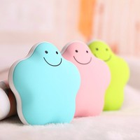 USB Mini Rechargeable Hand Warmer Treasure Lucky Star Power Bank Macarons Polymer Electric Hand Warmer Heater