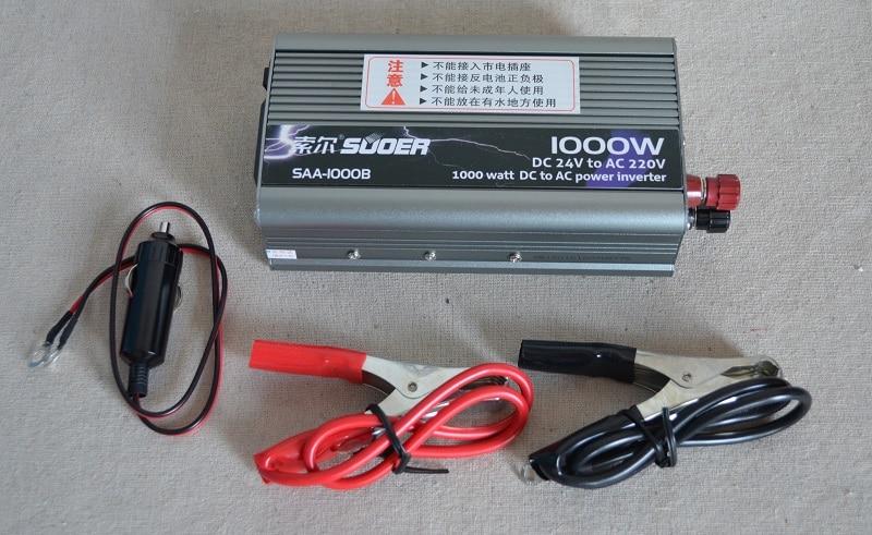 New 1pc Inverter 1000W 24V to 220V dc dc converter Power Inverter Charger inversor grid tie
