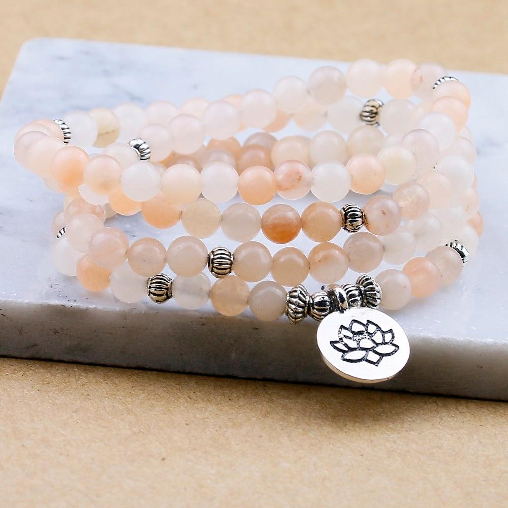 Pink Aventurine Mala Beads (6mm) 2