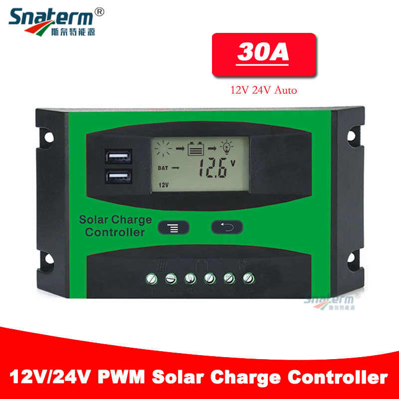 30A 20A LCD Solar Charge controller 12V 24V auto switch LCD display Solar charge controller charger controller