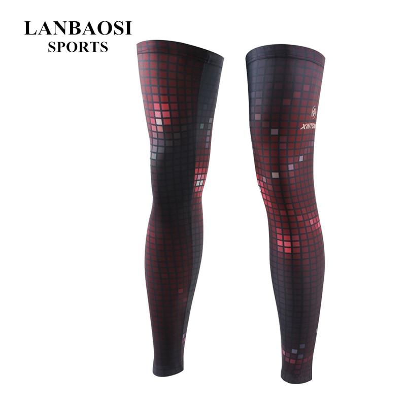 Hot !! Knee Long Sleeve Protector Gear Flash Grid Basketball Sport Compression Calf Antislip Stretch Brace Thigh Skin Protector