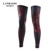 Hot Knee Long Sleeve Protector Gear Flash Grid Basketball Sport Compression Calf Antislip Stretch Brace Thigh