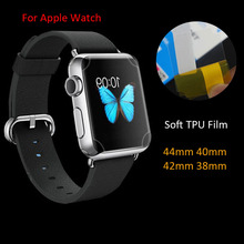 3Pcs/Lot Anti-Scratch Soft TPU Full Cover Protective Film For Apple Watch Series 4 44mm 40mm  3 2 1 38mm 42mm Screen Protector