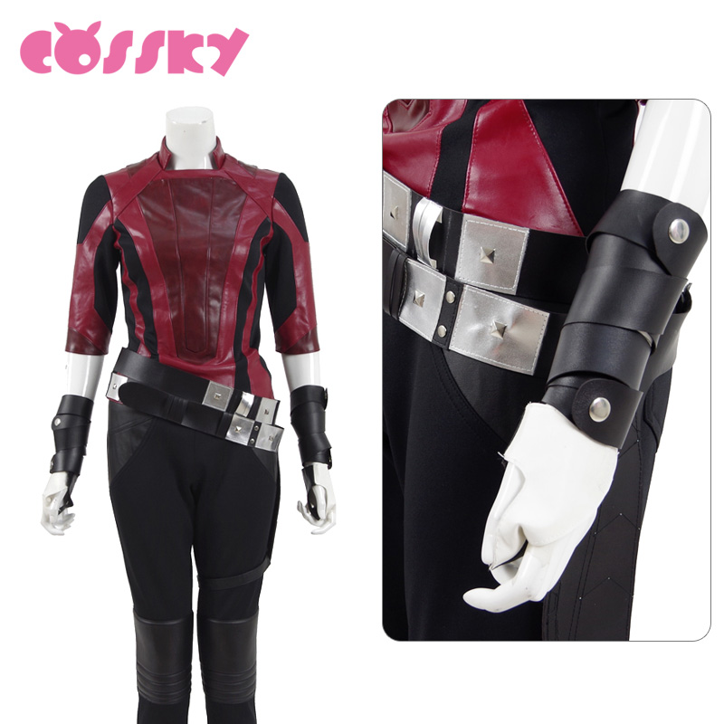 Guardians of the Galaxy 2 Gamora Cosplay Superhero Battle Uniform Halloween Costume PU Leather Suit for Woman