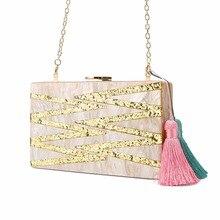 Bolso de mano de moda para mujer pequeño bandolera Vintage de primavera para mujer bolso de acrílico para mujer