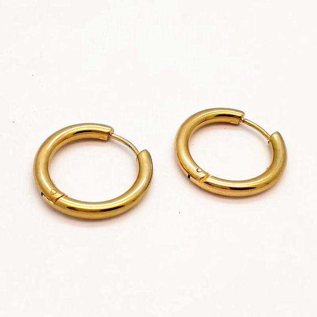 Ohrringe kleine ringe gold