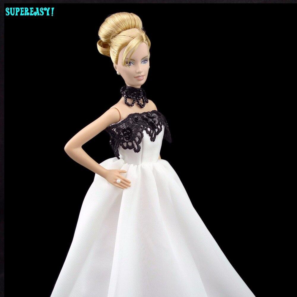 Шикарное платье Костюм на свадьбу и праздник платье принцессы без бретелек Одежда для куклы Барби FR 11.5 12 кукольный игрушка ручной работы к...