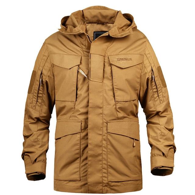 e9ff79d1d5f M65 UK US Army Casual Tactical Jacket Men Winter Autumn Waterproof  Windbreaker Flight Pilot Coat Hoodie