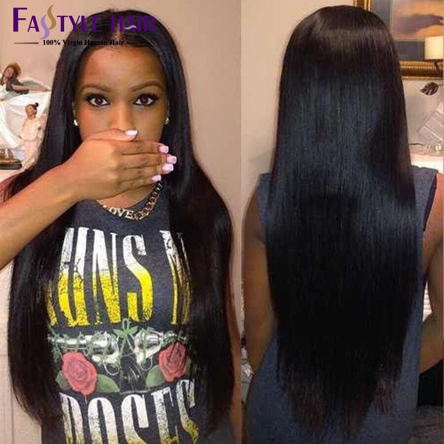 Mink Brazilian Virgin Hair Straight 4 Bundles Cheap Human Hair
