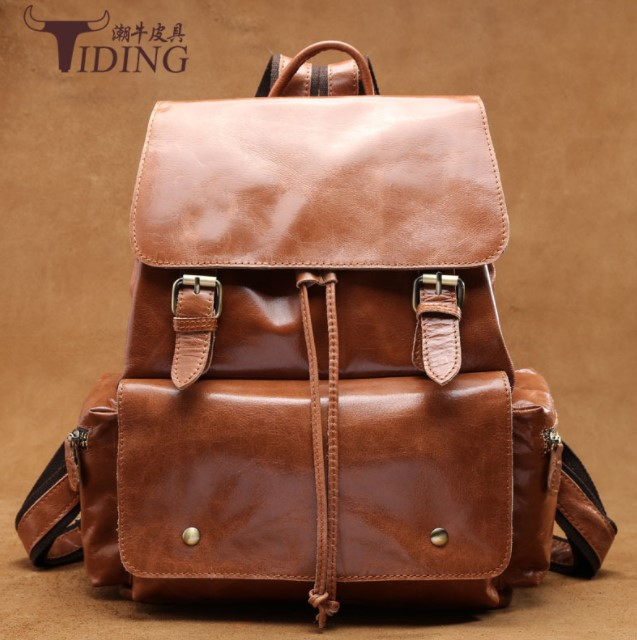 women men cow leather brown backpack bags 2018 new man unisex fashion brand genuine leather casualtravel luggage bag backpacks 2018 new travel luggage genuine leather men backpack string wear resisting man concise fashion pack student bag pr008134