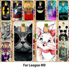 Anunob For LEAGOO M9 Case Silicon TPU Covers for leagoo m9 case cover Painted Cute Cats Tiger Anime Patterned Shells 5.5(China)
