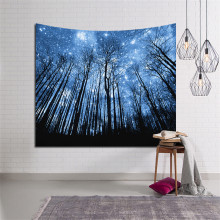 Digital printed tapestry/wall carpet/beach towel jungle series Home Decorations Wall Hanging Forest Starry Night Tapestries For