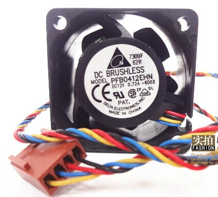 Free Shipping Delta PFB0412EHN 4028 40mm 4cm 12V 0.72A 4 -pin pwm industrial server inverter cooling fans zipower pm 5116