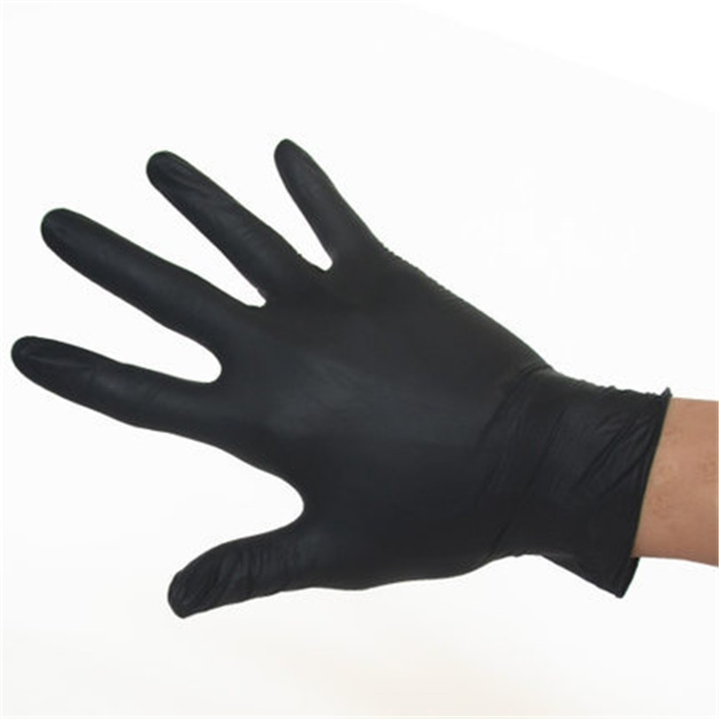 100pcs Tattoo Soft Nitrile tattoo gloves black medium for Disposable Latex Gloves Available Size Accessories Free Shipping 8