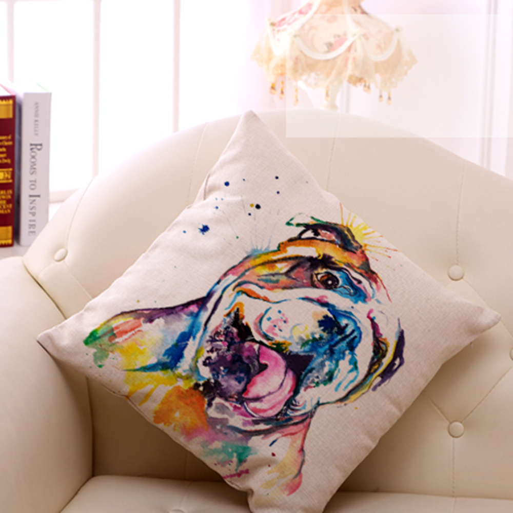French Bulldog Printed Sofa 1