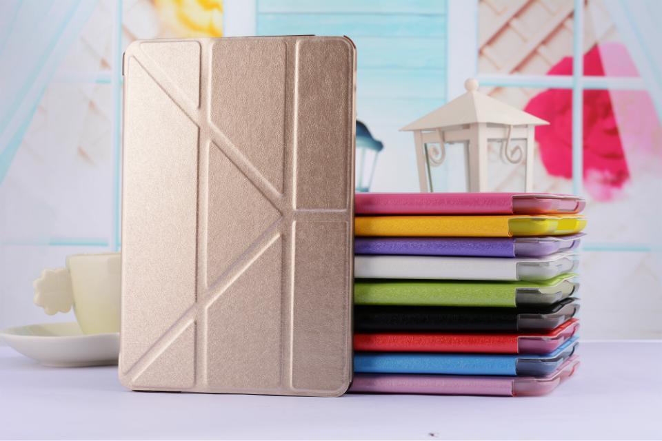 Luxury Stand PU Leather Case For ipad mini 1 / 2 Retina / 3 Silk Slim Clear Smart Back Cover for apple ipad Mini2 Mini3  цены
