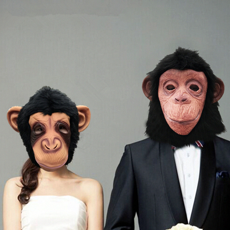 Grand Theft Auto Fantezi Elbise Maymun maskesi Şempanze Maskeleri - Tatiller ve Partiler Için - Fotoğraf 1